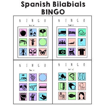 Bilabial BINGO in Spanish: Initial, Medial m, b, p, articulation