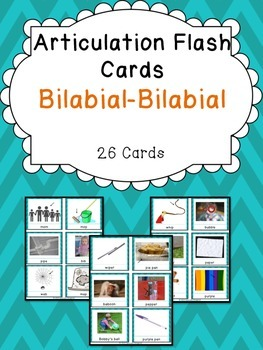 Apraxia & Articulation Cards Bilabial-Bilabial