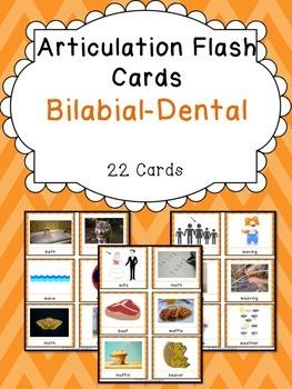 Apraxia & Articulation Cards Bilabial-Dental