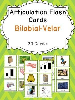 Apraxia & Articulation Cards Bilabial-Velar