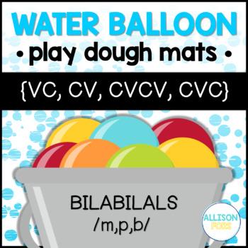 Apraxia Play Dough Mats - Bilabials