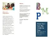 Bilabials Brochure for Parents