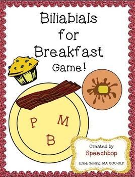 Bilabials for Breakfast - An articulation game!
