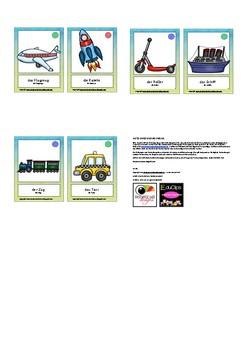 Bildkarten Fahrzeuge Schülerversion - Mini flash cards vehicles