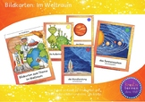 Bildkarten: Im Weltall - Flash Cards: Our Solar System (German)