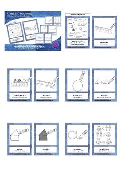 Bildkarten Mathematik Operatoren Schülerversion - Mini Math Flash Cards