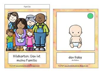 Bildkarten: Meine Familie