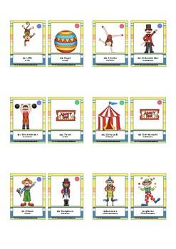 Bildkarten Thema Zirkus Schüler Version