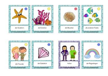 Bildkarten in Schülergröße: Der Regenbogenfisch