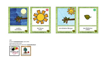 Bildkarten in Schülergröße: Raupe Nimmersatt