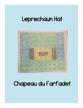 Bilingual 100 Chart Mystery Picture- Double St Patrick's Day Picture