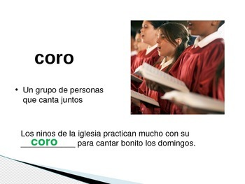 Bilingual 1st Grade Interactive Powerpoint for Spelling Words (Spanish)