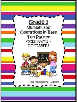 Bilingual 1st Grade Math NBT Packet - CCSS Aligined Packet