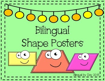 Bilingual 2-D Shape Posters