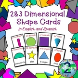 Bilingual 2D & 3D Shape Card Games (Spanish & English)