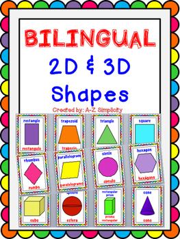 Bilingual 2D & 3D Shapes (Gomez&Gomez Style)