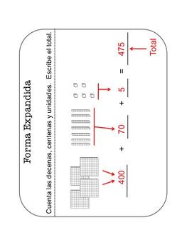 Bilingual:2nd Grade Place Value Pictorial Representation- Math Centers (BUNDLE)