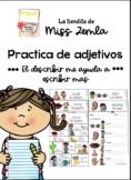 Bilingual 5 senses visual mats, adjectives/ Guia visual 5 sentidos y adjetivos