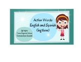 Bilingual Action Words; Present Progressive tense