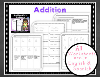 Bilingual Addition Bundle