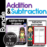 Bilingual Addition & Subtraction Word Problems Bundle in E