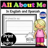 Bilingual All About Me Book in English & Spanish