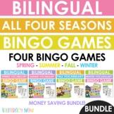 Bilingual All Four Seasons Vocabulary Bingo Games - Juegos