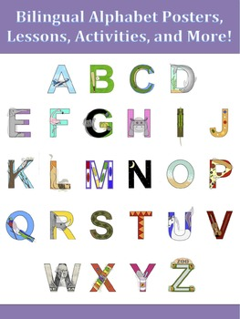 Bilingual Alphabet Pack - Spanish & English Alphabet Lessons and Activities