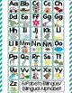 Bilingual Alphabet Posters and Wall Chart for Dual Language