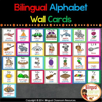 Bilingual Alphabet Wall Cards