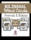 Bilingual Animal & Babies Word Cards