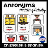 Bilingual Antonyms Matching Games in English & Spanish