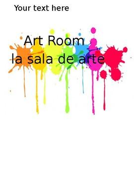 Bilingual Art Room Sign