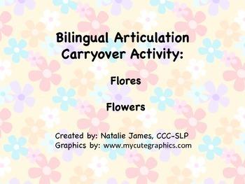 Bilingual (Spanish/English) Articulation Carryover Activit