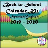 Bilingual School Calendar 2019 - 2020 (English/Spanish)