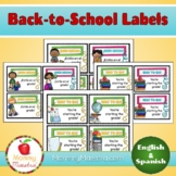 Bilingual Back-to-School Labels
