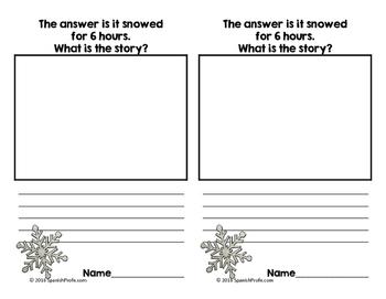 Bilingual Backward Math Story Problems (Problemas de cuento al revés) Winter