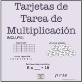 Bilingual: Basic Multiplication Concepts Task Cards 3rd grade (Eng/Sp)