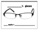 Bilingual Behavior Chart for Eyeglasses