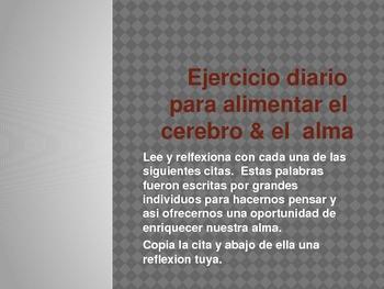 Bilingual Bellringers (English/Spanish)