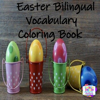 Easter Bilingual Vocabulary Coloring Book