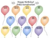 Bilingual Birthday Poster (Spanish/English)