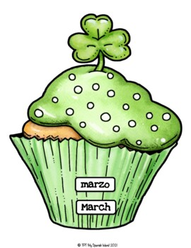 Bilingual Birthday cupcakes for each month of the year!