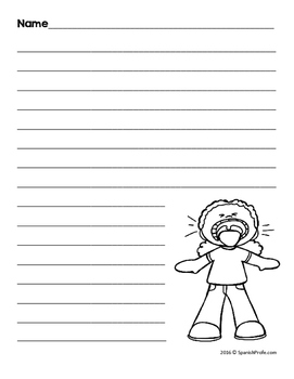 bilingual blank writing templates back to school spanish english