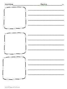 Bilingual Blank Writing Templates (Spanish/English)