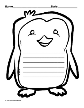 Bilingual Blank Writing Templates (Winter / Invierno) (Spanish/ English)