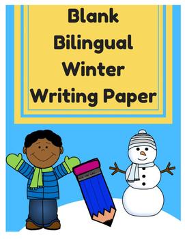 Bilingual Blank Writing Templates (Winter / Invierno) (Spa