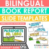 Bilingual Book Report Slide Templates - Book Report Slides