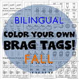 416 Bilingual Brag Tags for Fall & Halloween in English an