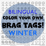 416 Brag Tags for Winter & Christmas in English & Spanish